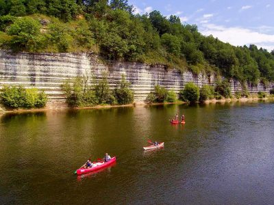 Bac de Sors beach on Dordogne