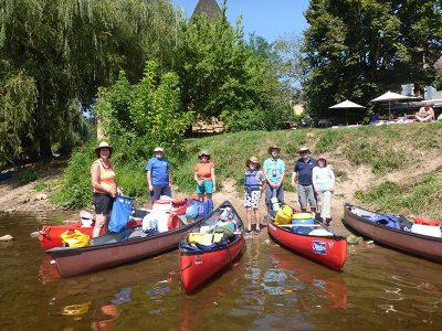 4 days canoe trip Vezere-Dordogne